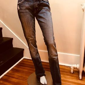 7 For All Mankind distressed straight leg